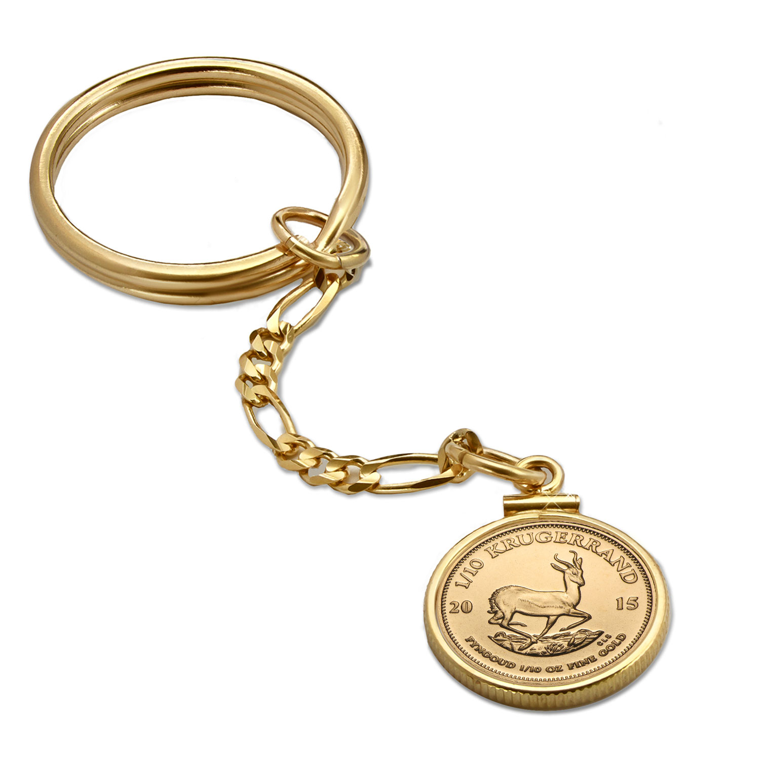 2015 1/10 oz Gold Krugerrand Key Ring